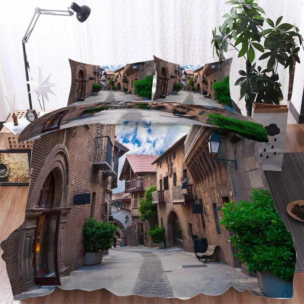 Street braun House 3D Printing Duvet Quilt Doona Covers Pillow Case Bedding Sets