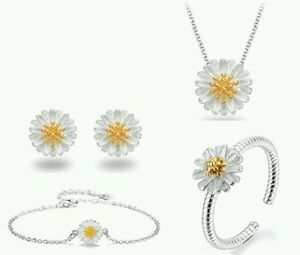 Daisy necklace BRACELET ring and earring set of4 wedding bridesmaid birthday 439 - <span itemprop='availableAtOrFrom'>Scunthorpe, United Kingdom</span> - Daisy necklace BRACELET ring and earring set of4 wedding bridesmaid birthday 439 - Scunthorpe, United Kingdom
