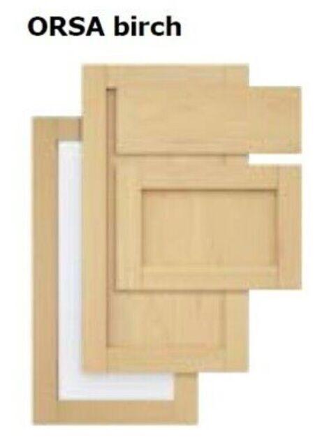 IKEA Kitchen Doors For Corner Base / Wall Cabinet Orsa Birch 12x30 Door Set  New