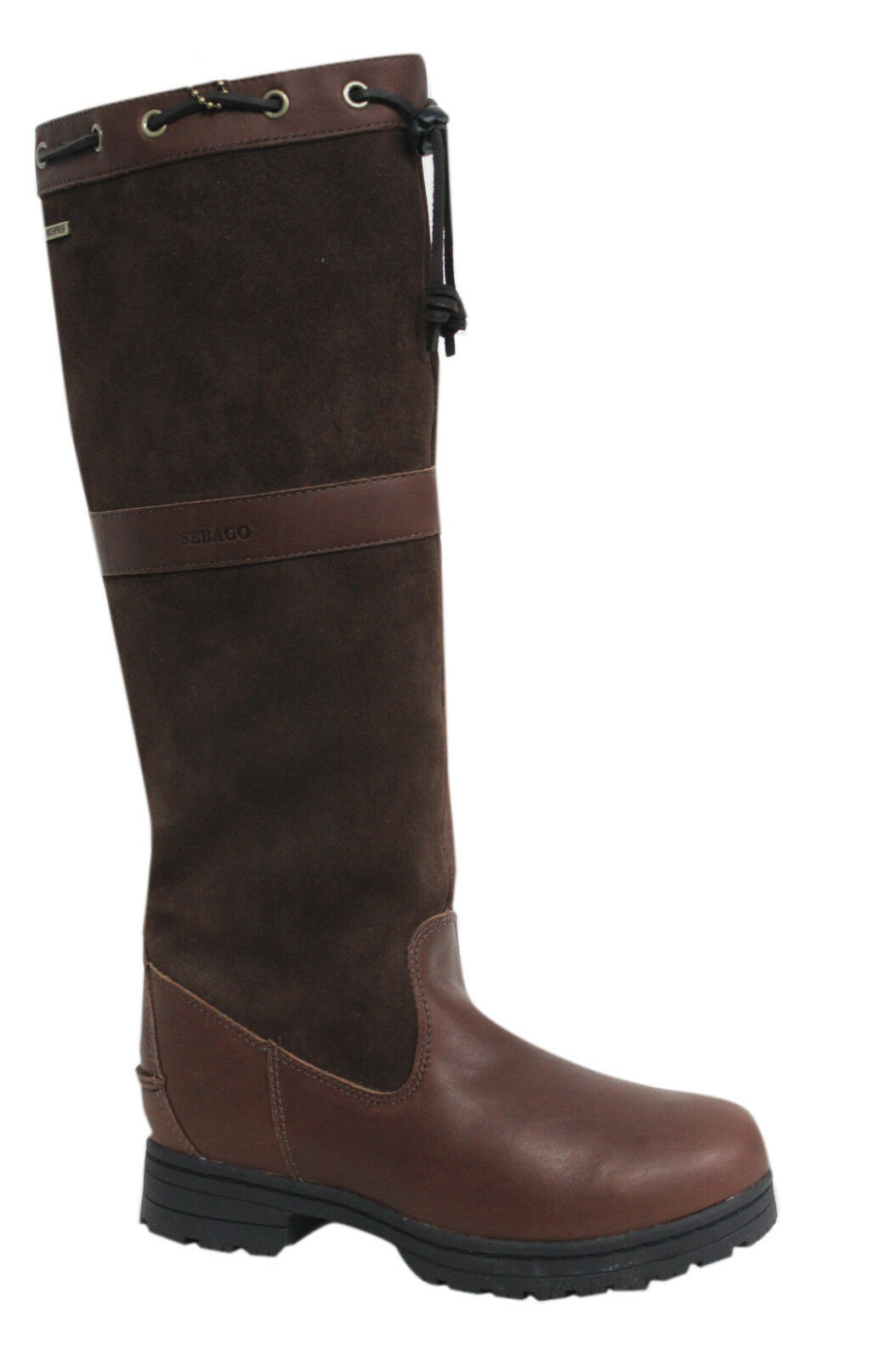 Grandes zapatos con descuento Sebago Dorset Sin Cordones Cuero Marrón Damas Invierno Botas Impermeables b51200