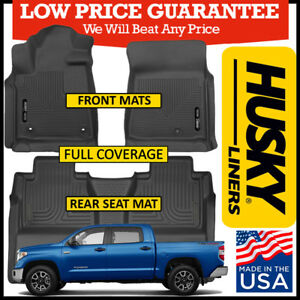 Husky X-Act Contour FULL COVERAGE Floor Mats fit 2014-2020 Toyota Tundra CrewMax