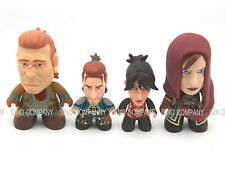 4pcs Dragon Age The Heroes of Thedas Titans Vinyl Figures Varric Andres LELIANA