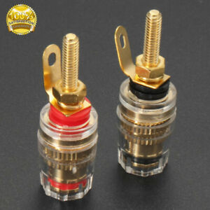 Speaker-Binding-Posts-Terminals-Connectors-Red-Black-Gold-Plated