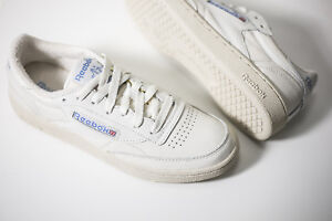 2b8ecebe0d702 REEBOK CLUB C 85 VINTAGE WHITE BLUE V69406 US WOMENS SZ 5-11