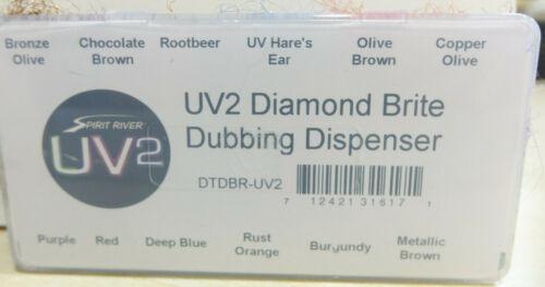 uv2 DIAMOND BRITE Dubbing Assortment Box Spirit River uv2 Diamond Brite Dub Box