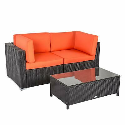 Fantastic 3 Pcs Patio Pe Rattan Wicker Loveseat Sofa W Coffee Table Outdoor Furniture Ebay Pabps2019 Chair Design Images Pabps2019Com