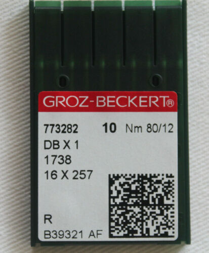 10 Groz Beckert Rundkolben Mashinennadeln Industrienadeln System 1738 R 80/12