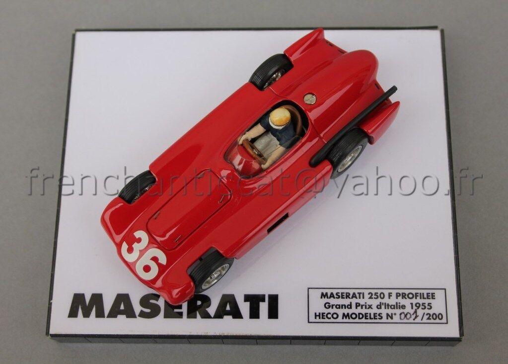 C184 Miniature 1 43 Maserati 250 250 250 F Contoured 36 Gp  1955 Collector Heco 05596d