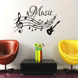 Musical Notes Music Wall Stickers Vinyl Removable Living