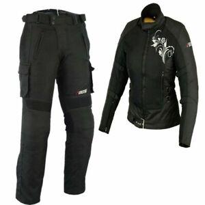 Damen-Motorrad-Textil-Jacke-und-Hose-Damen-Motorrad-Sommer-Jacke-Motorrad-kombi
