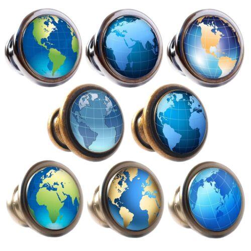 En alliage de zinc Boutons Tiroir Placard globes 30mm poignées décorées