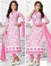 Radiant Pink Cotton Embroidered Salwar Suit Dress Material D.NO NKT524