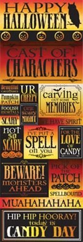 Reminisce HALLOWEEN SPELLBOUND GRAPHIC Cardstock Stickers Scrapbooking