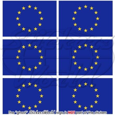 """1.6/"""" Mobile Cell Phone Mini Stickers-Decals x6 EUROPEAN UNION Flag Europe 40mm"""
