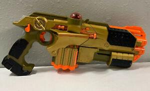 Tiger Lazer Tag Phoenix LTX Shotgun Blast Attachment Gold tested working