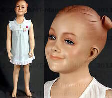Child mannequin, smiling happy girl abt 2 years old, hand made manikin-Valerie