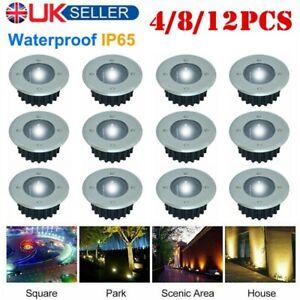 12PCS-LED-Solar-Power-Ground-Lights-Floor-Decking-Outdoor-Garden-Lawn-Path-Lamp