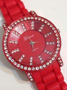 Geneva-Ladies-Designer-Excellent-Condition-Working-Quartz-Watch