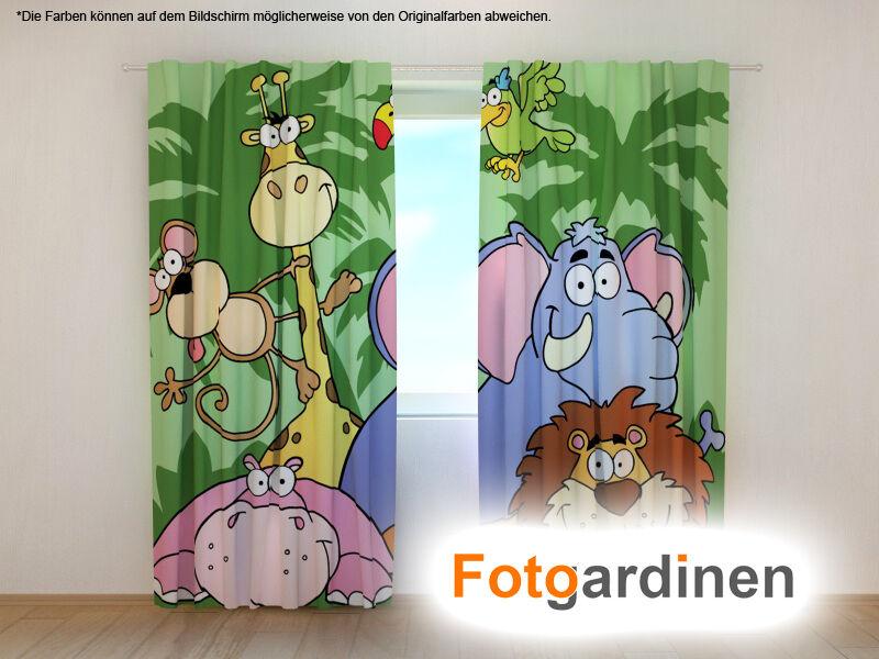 Fotogardinen  Zoo  Vorhang 3D Fotodruck Fotovorhang Maßanfertigung