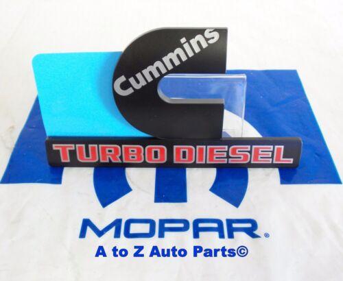 2015-2018 Dodge Ram 2500,3500 Heavy Duty BLACK CUMMINS TURBO DIESEL Emblem,OEM