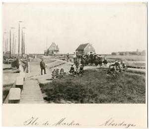 Nederland-Ile-de-Marken-Abordage-Vintage-albumen-print-Silver-Print-15x