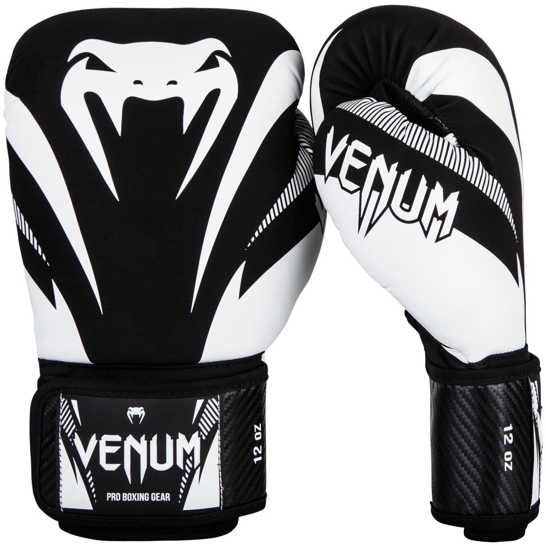 Venum Impact Boxen   Muay Thai Handschuhe - black white