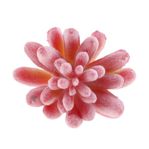 Artificial Succulent Flower Floral Stem Plastic Plant Foliage for DIY Pink