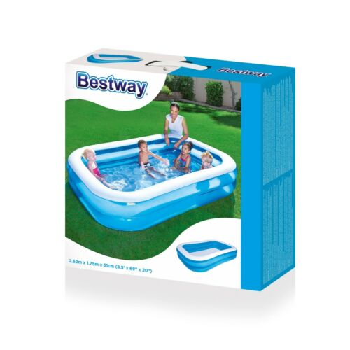 Bestway Large Rectangulaire Famille Natation Pataugeoire hors de l/'eau fun