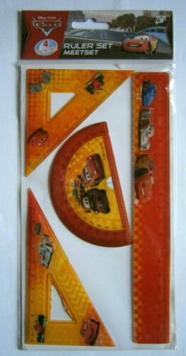 Cars 4 x Lineal set Rot Neu OVP Orange Disney