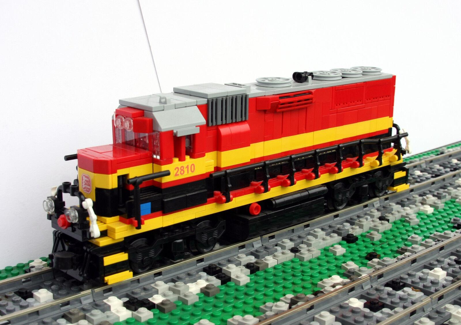 Custom Lego Kansas Kansas Kansas City Southern GP22ECO train engine KCS 332c9d