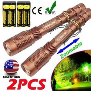 US Super Bright Tactical 350000LM LED 5Modes Flashlight Aluminum Zoom Torch Camp