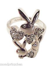 PLAYBOY  Bunny Ring mit Strass dm 19 mm