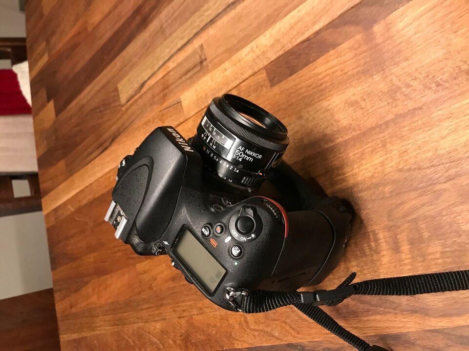 Nikon D800 + tilbehør, 36,3 megapixels, God
