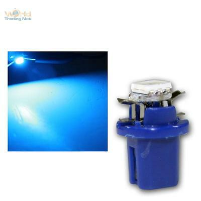 10 x SMD 3Chip LED B8.5D BAX10d T5 blau Amaturenbeleuchtung Innenraum Tacho blue