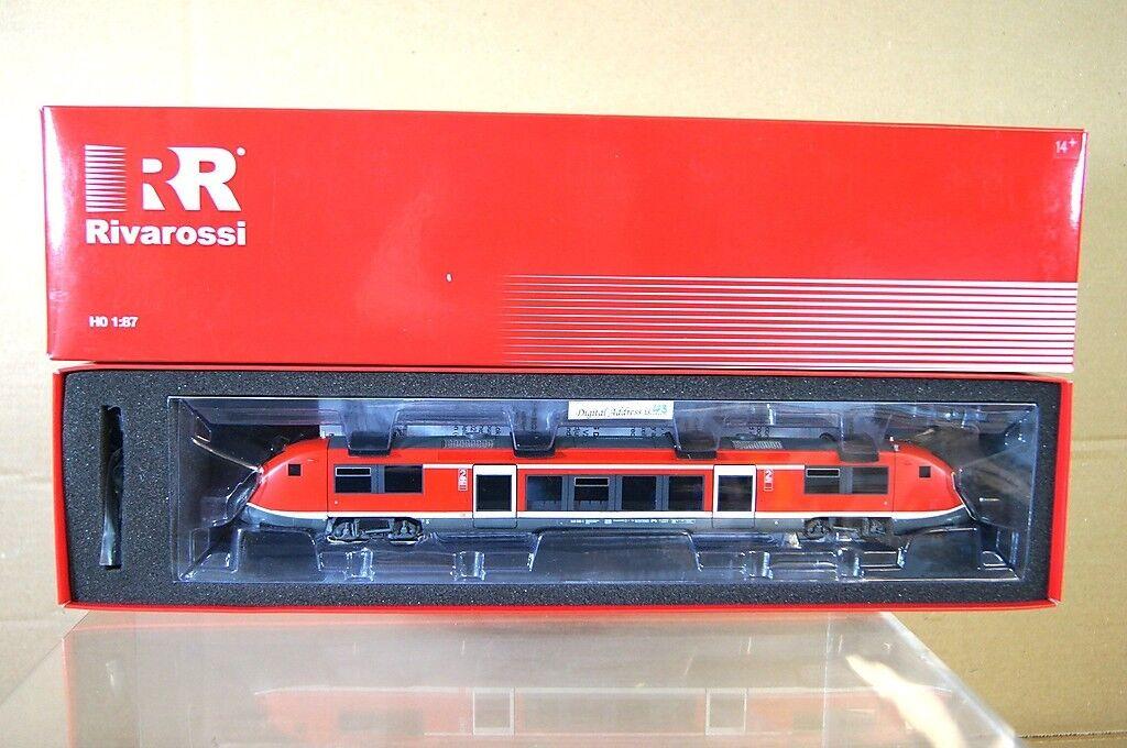 RIVAROSSI HR2848 AC DIGITAL DB BR VT 641 TRIEBWAGEN RAILCoche LOCO SET MIB nc