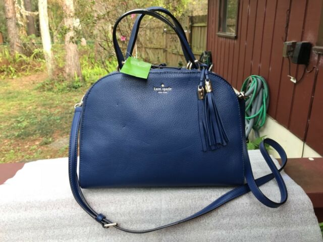 Kate Spade Atwood Place Bayley Leather Satchel Bag Ocean Ice Blue