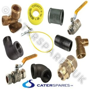 YELLOW GAS CATERING HOSE PIPE FITTINGS NIPPLE COUPLING PTFE TAPE ELBOW VALVE ETC
