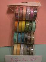 American Crafts Premium Scrapbooking Ribbon Value Dots 24ct, 4 Rolls 89379