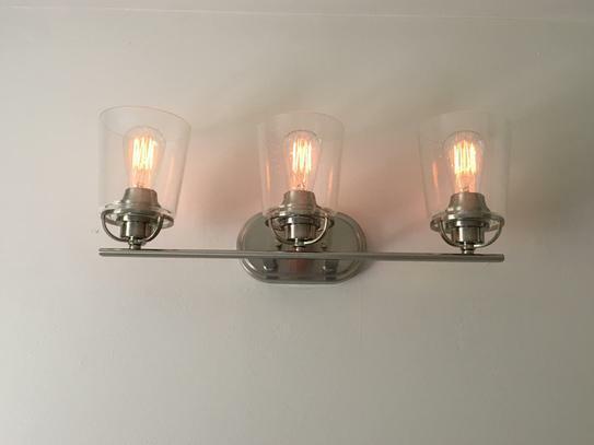 Progress Lighting Inspiration 3 Light Brushed Nickel Bathroom Vanity Light For Sale Online Ebay