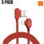 Mcdodo-3-PACK-6FT-90-Degree-Lightning-Charging-Cable-Charger-for-Apple-iPhone thumbnail 8