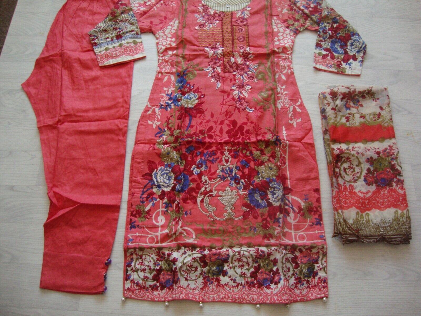 Cross stitch on lawn design Embroidered salwar kameez summer clearance