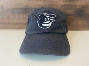 Men Navy Blue Washed Baltimore Orioles Head 47 Brand Size XL Baseball Hat Cap