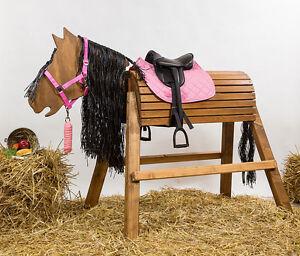 holzpferd voltigierpferd bew kopf cm flechtm hne inkl zubeh r ebay. Black Bedroom Furniture Sets. Home Design Ideas