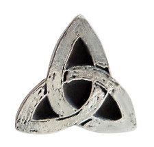 Celtic Trefoil Triquetra Small Pewter Pin Badge - Hand Made in Cornwall
