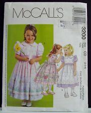 McCALL/'S #7320 GIRLS PETER PAN COLLAR BLOUSE-PANTS-VEST /& SKIRT PATTERN 2-8 uc