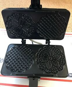 Cucina Pro Electric Non Stick Pizzelle Cookie Baker Model 220 05ns