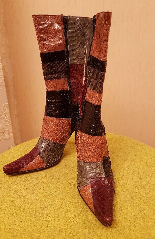 RENZONI  100% Real Snake Skin,Italian Ancle boots,5 UK (38 EU)