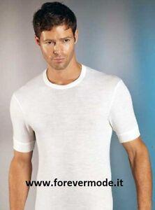 3 T-shirt uomo Gicipi manica corta girocollo in caldo misto lana liscio 41 MC