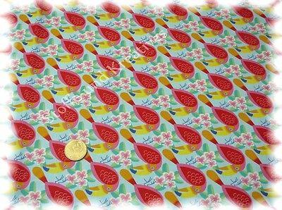 Baumwolle Popeline Hilco Les Cerises Kirschen weiß Blüten Meterware Kinderstoff