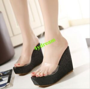 7b393a8223d59 Image is loading Summer-Womens-Beach-Platform-Flip-Flops-Sandals-High-